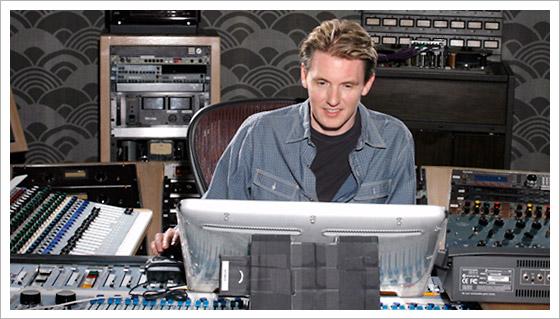 Scott Erickson in the recording studio